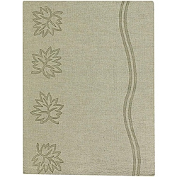 Hand-tufted Mandara Green New Zealand Wool Rug (7' x 10')