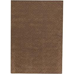 Hand-tufted Mandara Brown New Zealand Wool Rug (9' x 13')