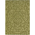 Hand-tufted Jaira Floral Green New Zealand Wool Rug (7' x 10')