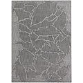 Hand-tufted Mandara Floral Grey New Zealand Wool Rug (5' x 7')