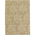 Hand-tufted Mandara  Floral New Zealand Wool Rug (9' x 13')