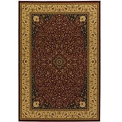 Oriental Burgundy Mandara Rug (5' x 8')