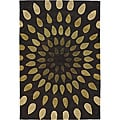 Hand-Tufted Green/Cocoa Mandara New Zealand Wool Rug (7'9 x 10'6)