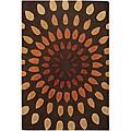 Hand-Tufted Art Silk Mandara New Zealand Wool Rug (5' x 7'6)