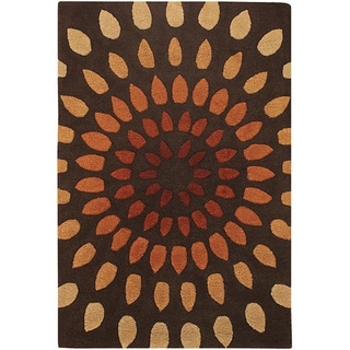 Hand-Tufted Warm Mandara New Zealand Wool Rug (7'9 x 10'6)