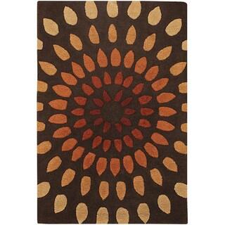 Hand-tufted Mandara New Zealand Wool Area Rug (9' x 13')
