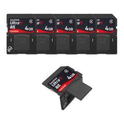 SanDisk 4GB Ultra II SDHC Plus USB Memory Card (Pack of 5)
