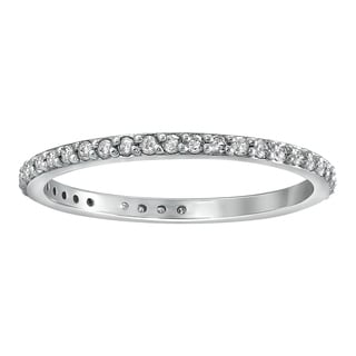 Beverly Hills Charm 10k White Gold 1/3ct TDW Diamond Eternity Wedding Band