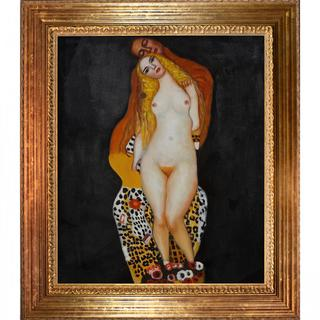 Gustav Klimt 'Adam and Eve' Framed Canvas Art