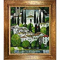 Gustav Klimt 'Church in Cassone' Framed Canvas Art