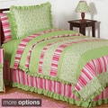 Sweet Jojo Designs Olivia Green/ Pink Comforter Set