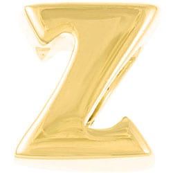 Sterling Essentials 14k Gold over Silver 'Z' Alphabet Bead