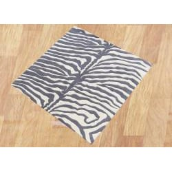 Alliyah Handmade?Safari Grey New Zealand Blend Wool Rug (6' x 6')