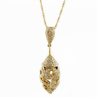 Beverly Hills Charm 14k Yellow Gold 3/4ct TDW Diamond Drop Necklace (H-I, I2)
