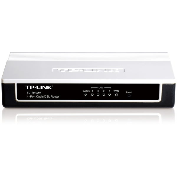 TP-LINK TL-R402M 4-Port Cable/DSL home Router, 1 WAN port, 4 LAN port