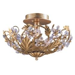 Abbey 3-light Gold Semi-flush Light