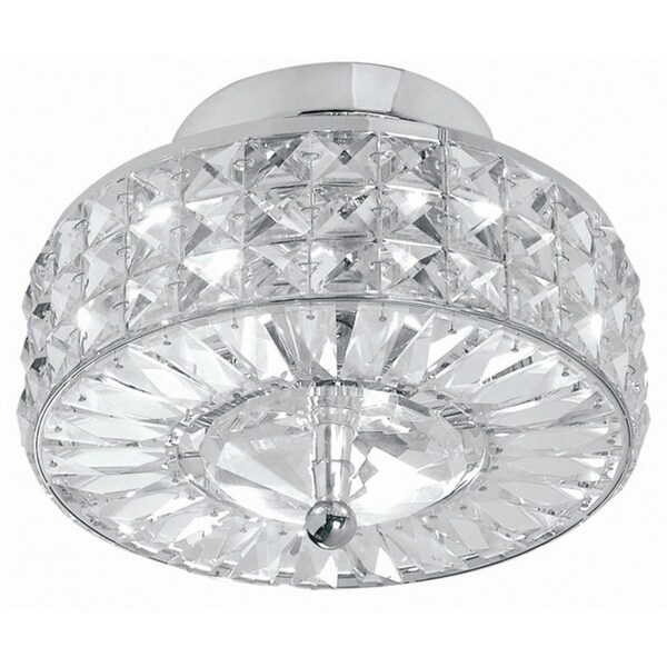 Chelsea Three-Light Polished Chrome Finish Semi-Flush Indoor Mount