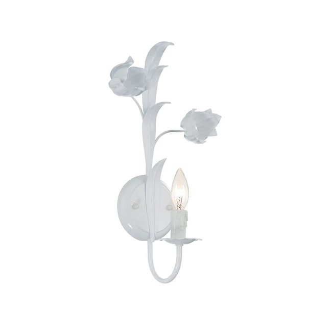 Southport 1-light Wet White Finish Wall Sconce
