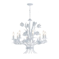Southport 8-light Wet White Finish Chandelier