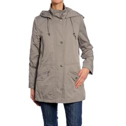 Nuage Women's Removable Hood Zipper Jacket