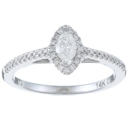 Eloquence 14k White Gold 1/3ct TDW Diamond Engagement Ring (H-I, I1-I2)