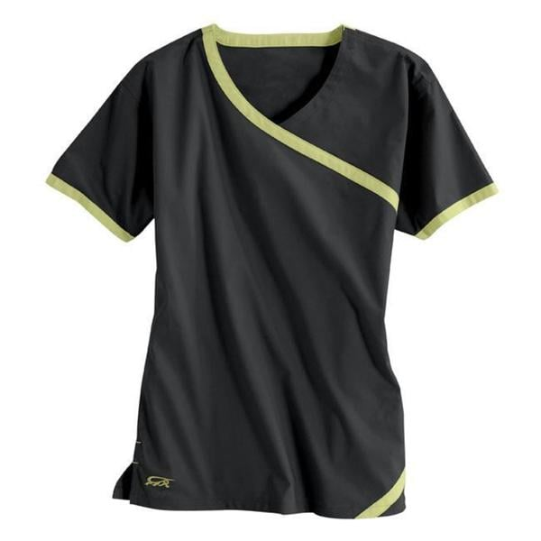 IguanaMed Women's Cross Over Carbon Black Top
