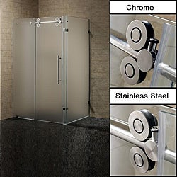 Vigo 36 x 48 Frameless 3/8-inch Frosted Left Shower Enclosure