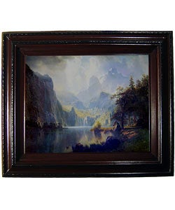 Bierstadt In the Mountains Framed Canvas