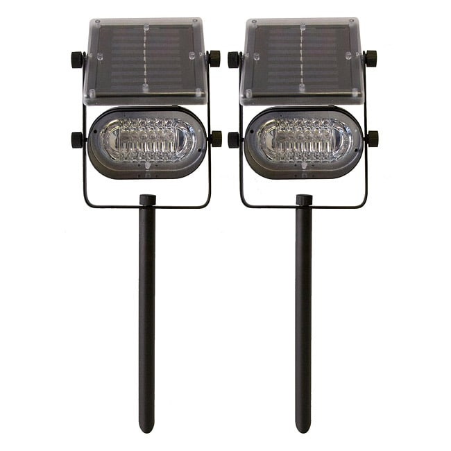 Tricod Ultra-bright Metal Solar Lights (Set of 2) - 13467501 - Overstock.com Shopping - Great ...