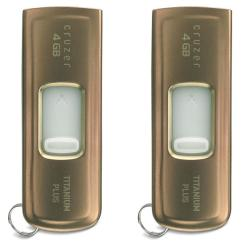 SanDisk 4GB Ultra Titanium Plus USB Flash Drive (Pack of 2)