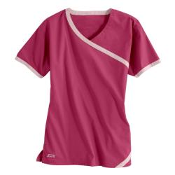 IguanaMed Women's Cross Over Power Pink Top