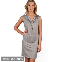 AtoZ Women's Sleeveless Drape Neck Dress