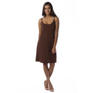 AtoZ Women's Spaghetti Strap Slip Dress