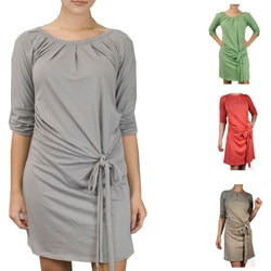 AtoZ Women's 3/4-sleeve Tie-front Dress