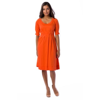 AtoZ Women's Pin Tuck Dress