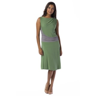 AtoZ Women's Gathered Sleeveless Dress
