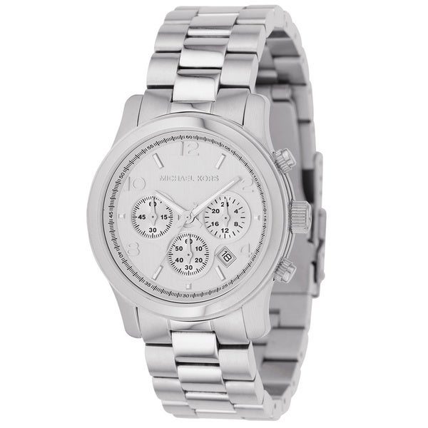Michael Kors Women's MK5076 Classic Stainless Steel Silver Chronograph Watch