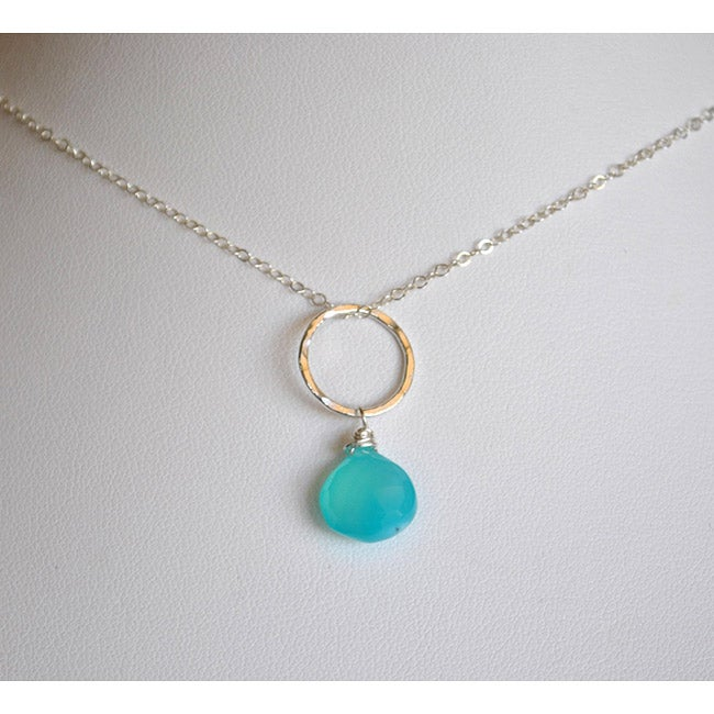 AEB Designs Silver Aqua Chalcedony Necklace