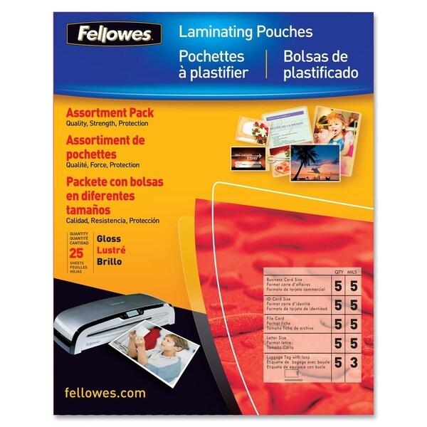 Fellowes Laminating Pouch Starter Kit, 25 pack