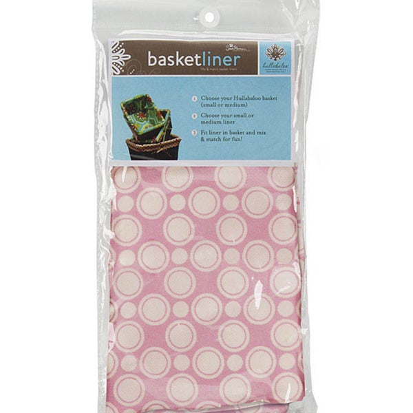 Medium Basket Liner in Retro Dot Pink