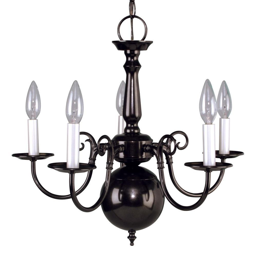 Williamsburg Onyx Mist 5-light Chandelier
