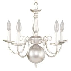 Williamsburg Silver Mist 5-light Chandelier