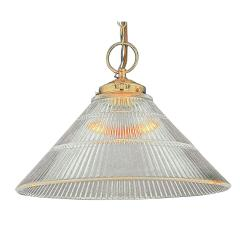 Transitional 1-light Polished Brass Pendant Fixture