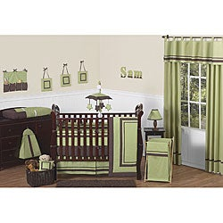Sweet Jojo Designs Hotel Green 9-piece Crib Bedding Set