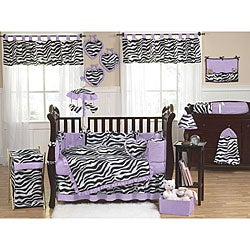 Sweet Jojo Designs Funky Zebra 9-piece Crib Bedding Set