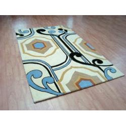 Alliyah Handmade Cream New Zealand Blend Wool Rug (4' x 6')