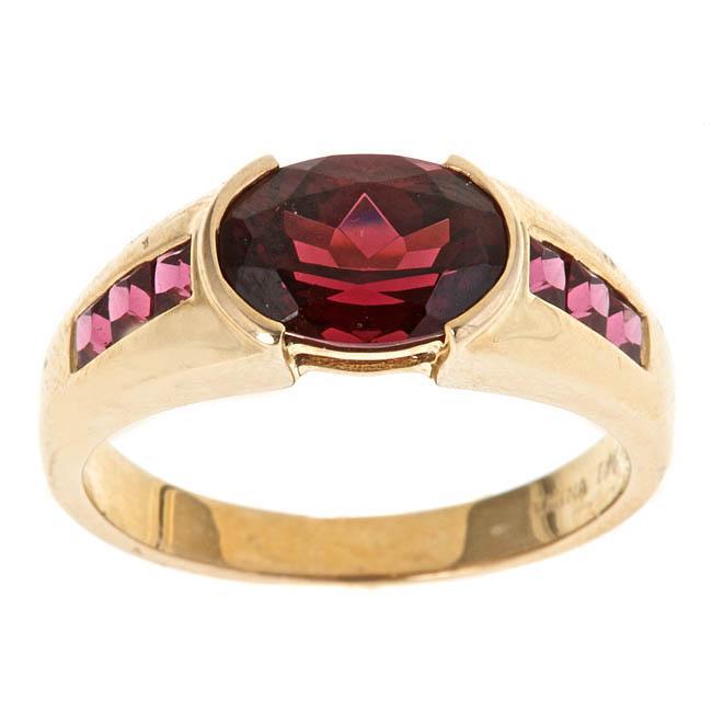 D'Yach 10k Yellow Gold Rhodolite Garnet Fashion Ring