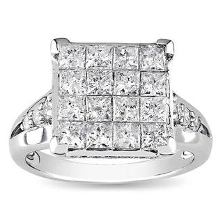 Miadora 14k Gold 2ct TDW Multi Stone Princess Cut Diamond Ring (G-H, I1-I2)