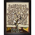 Gustav Klimt 'Tree of Life' Veine D' Or Bronze Angled Framed Canvas Art