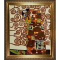 Gustav Klimt 'Fulfillment-The Embrace' Framed Hand-painted Canvas Art'